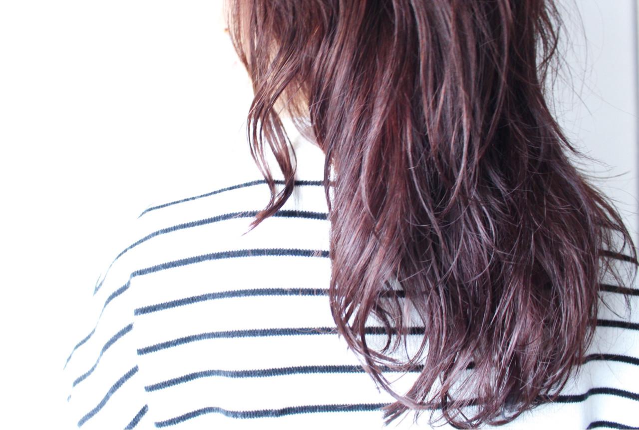 パーマ ゆるふわ ナチュラル ピンク ヘアスタイルや髪型の写真・画像 | creap / creap