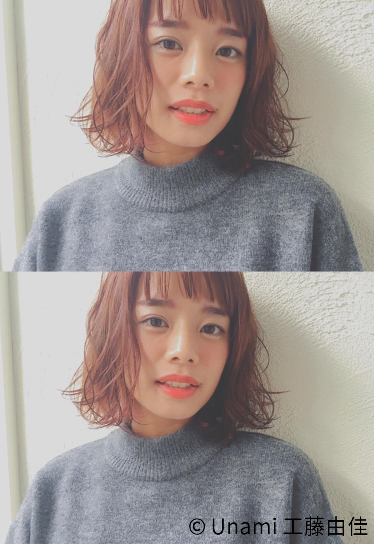 色気 ナチュラル パーマ 冬ヘアスタイルや髪型の写真・画像