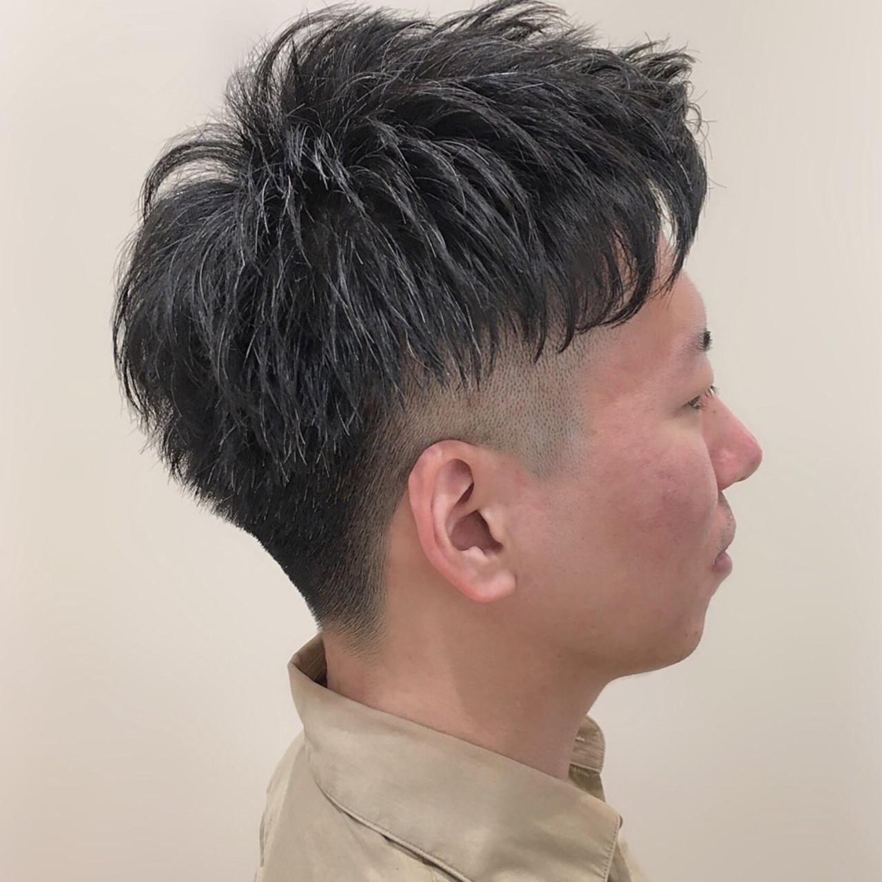 メンズ スキンフェード フェードカット ストリート ヘアスタイルや髪型の写真・画像