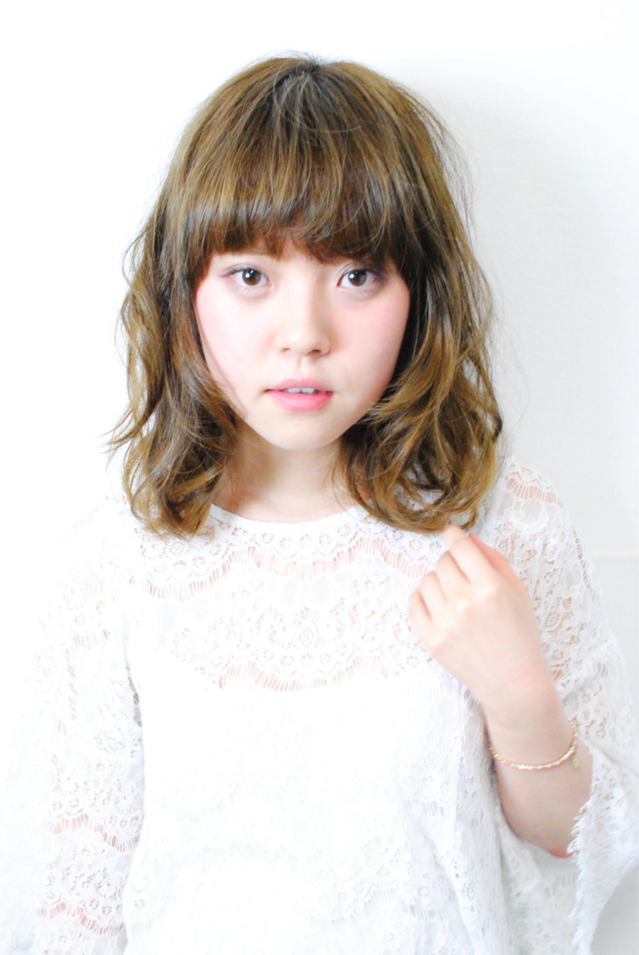 前髪あり グラデーションカラー ミディアム ピュア ヘアスタイルや髪型の写真・画像 | soya / amaca hair&nail life