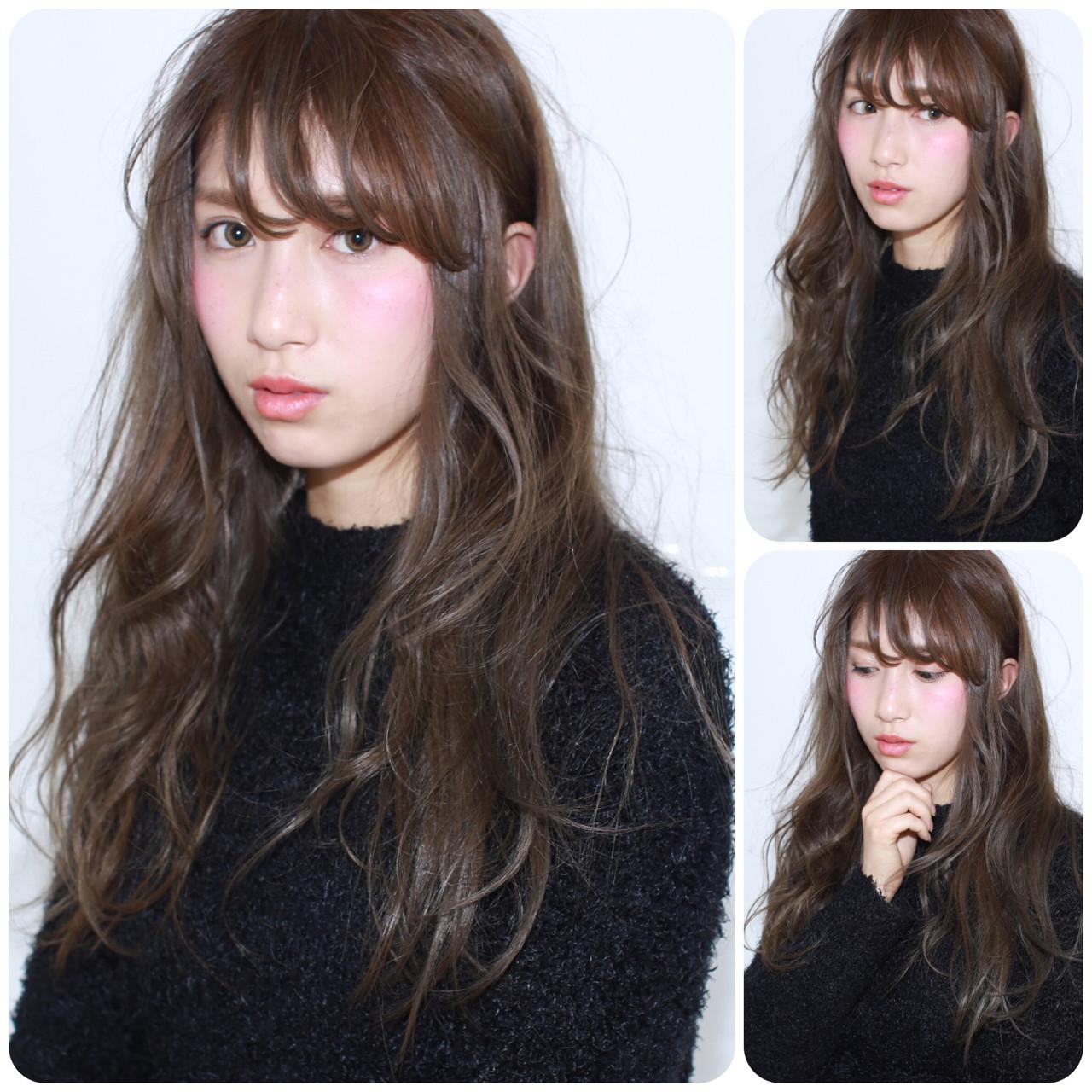 フェミニン 暗髪 ナチュラル ロング ヘアスタイルや髪型の写真・画像 | イマムラ スナオ / LUKE