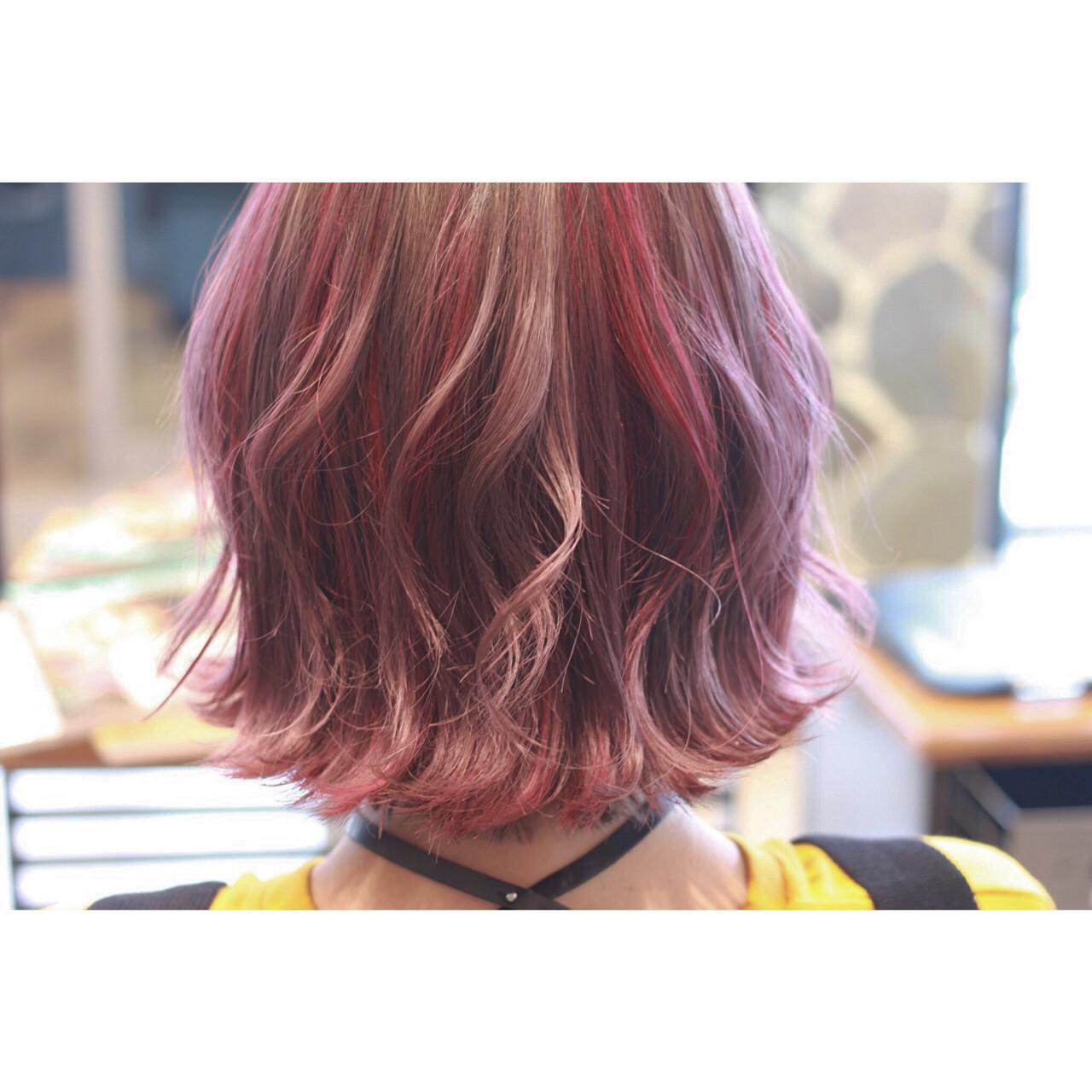 個性的 フェミニン 透明感 パステルカラーヘアスタイルや髪型の写真・画像