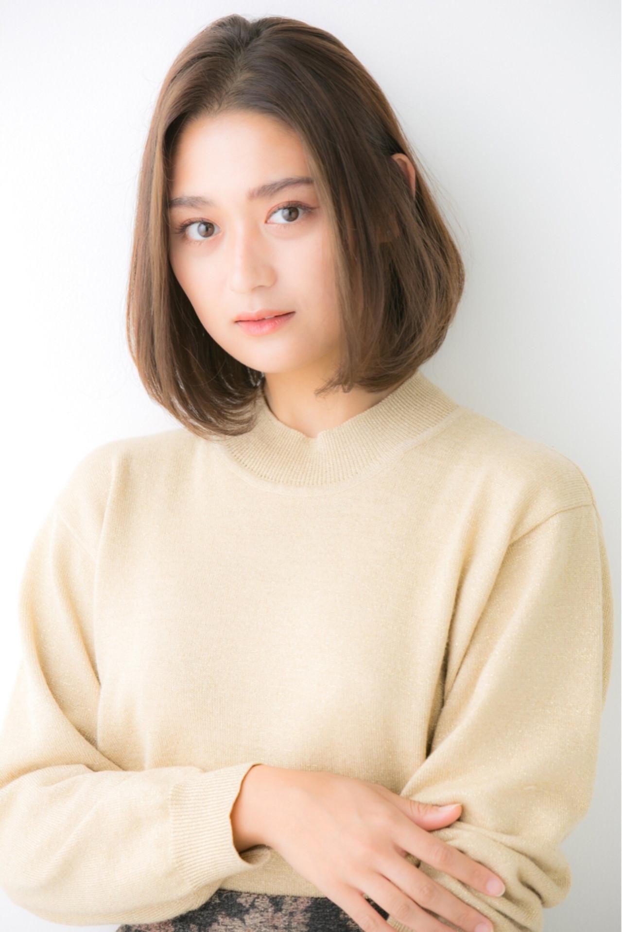 女子力 ナチュラル 小顔 イルミナカラー ヘアスタイルや髪型の写真・画像 | Euphoria GINZA 畑 俊太朗 / Euphoria Ginza