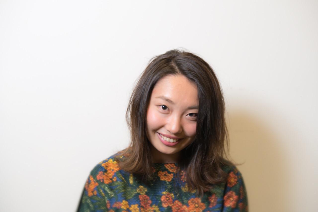 グラデーションカラー アッシュ 大人かわいい ミディアム ヘアスタイルや髪型の写真・画像 | ATSUKI MATSUMOTO / nonoi..