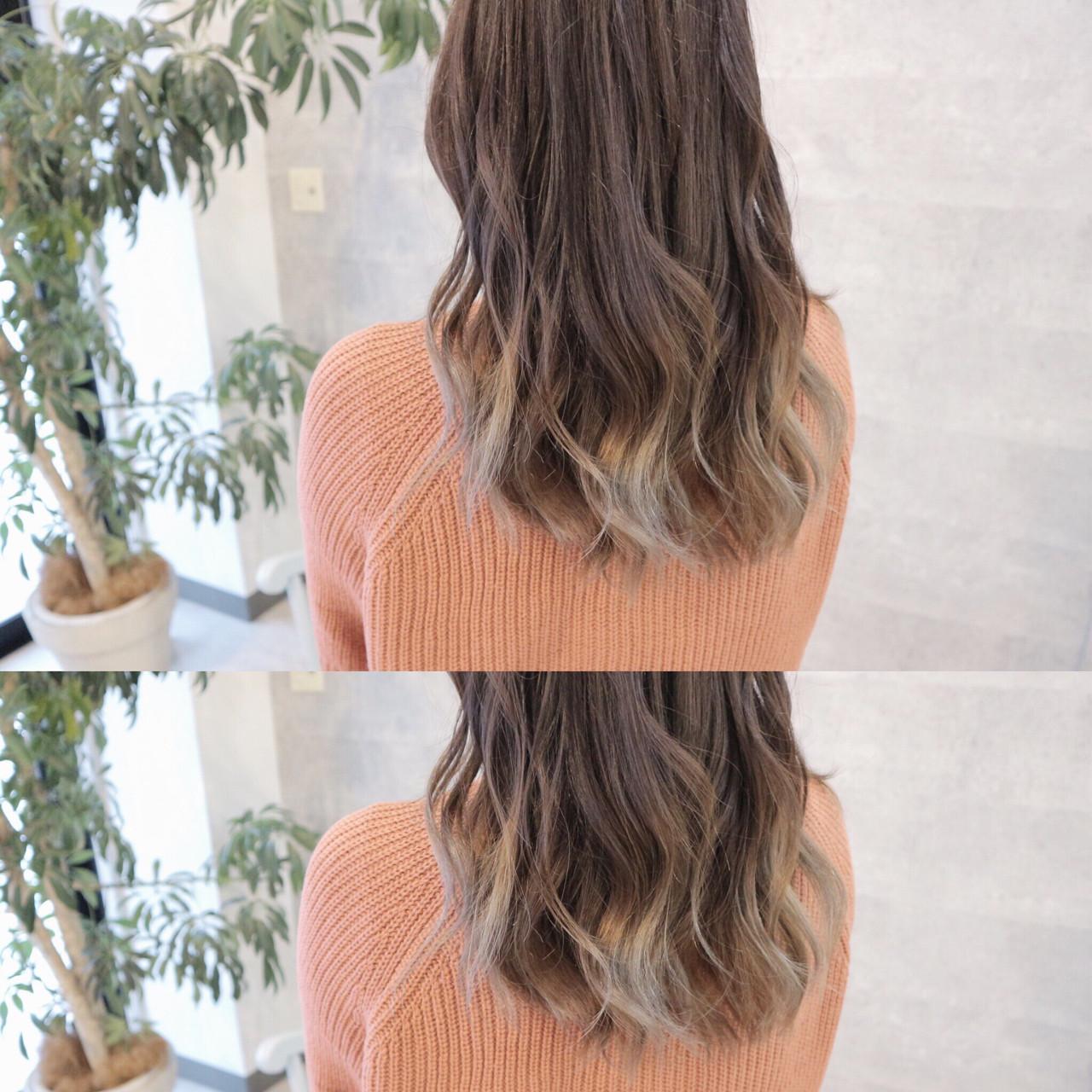 デート グラデーションカラー 愛され エレガント ヘアスタイルや髪型の写真・画像 | 桑村亮太/CALIF hair store / 函館/CALIF hair store/キャリフ ヘアストア