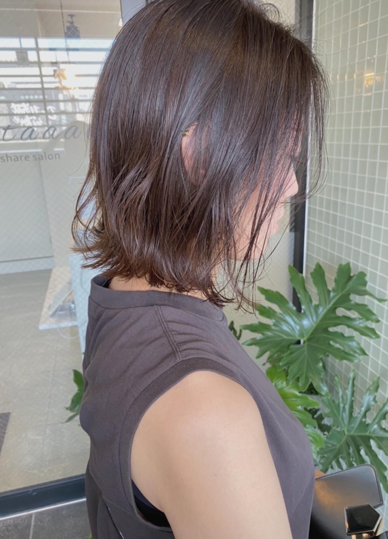 ボブ 切りっぱなしボブ 外ハネボブ ミニボブ ヘアスタイルや髪型の写真・画像 | hoshiko dai / Retaaan