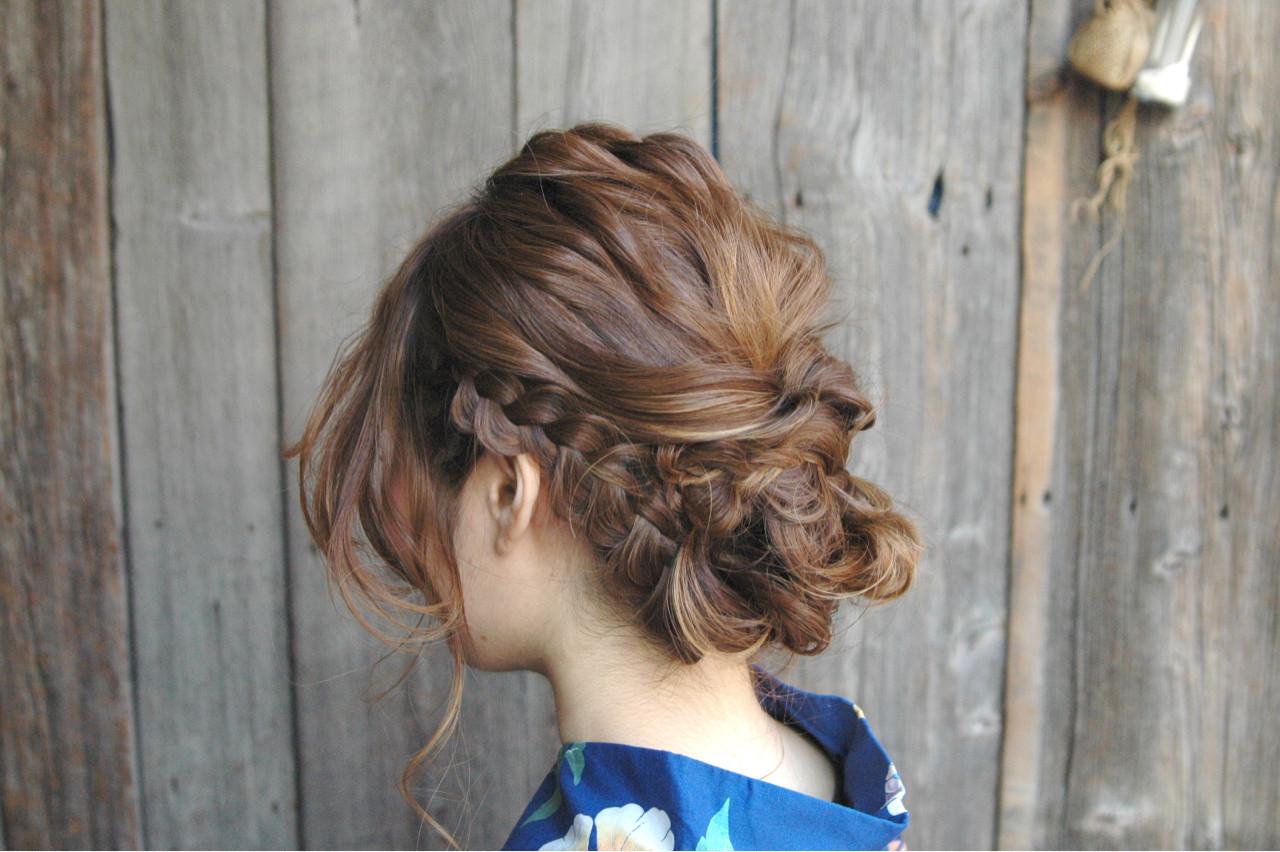 ヘアアレンジ 和装 花火大会 まとめ髪 ヘアスタイルや髪型の写真・画像 | Mai Hirahara / Hairmates NEWYORK Jiyugaoka