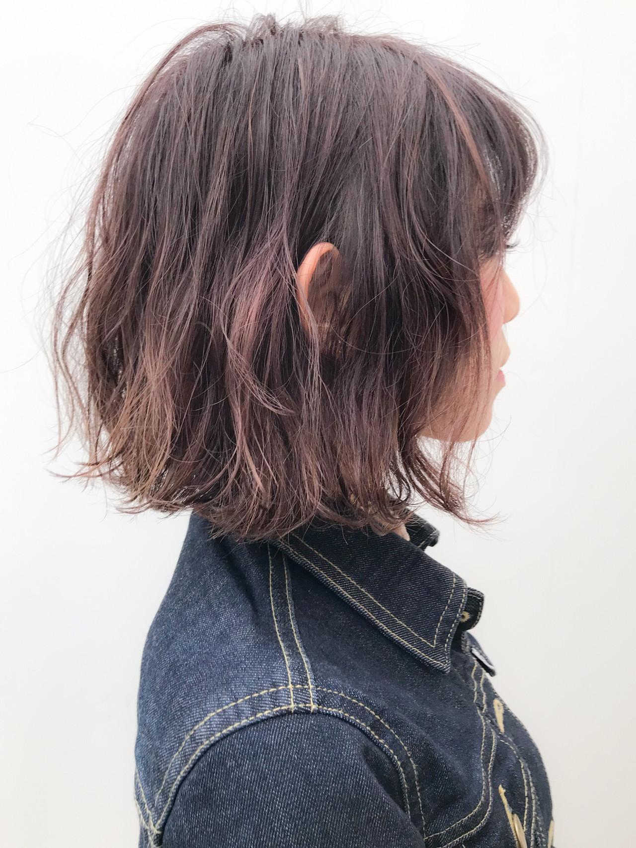 イルミナカラー ガーリー デート パーマヘアスタイルや髪型の写真・画像
