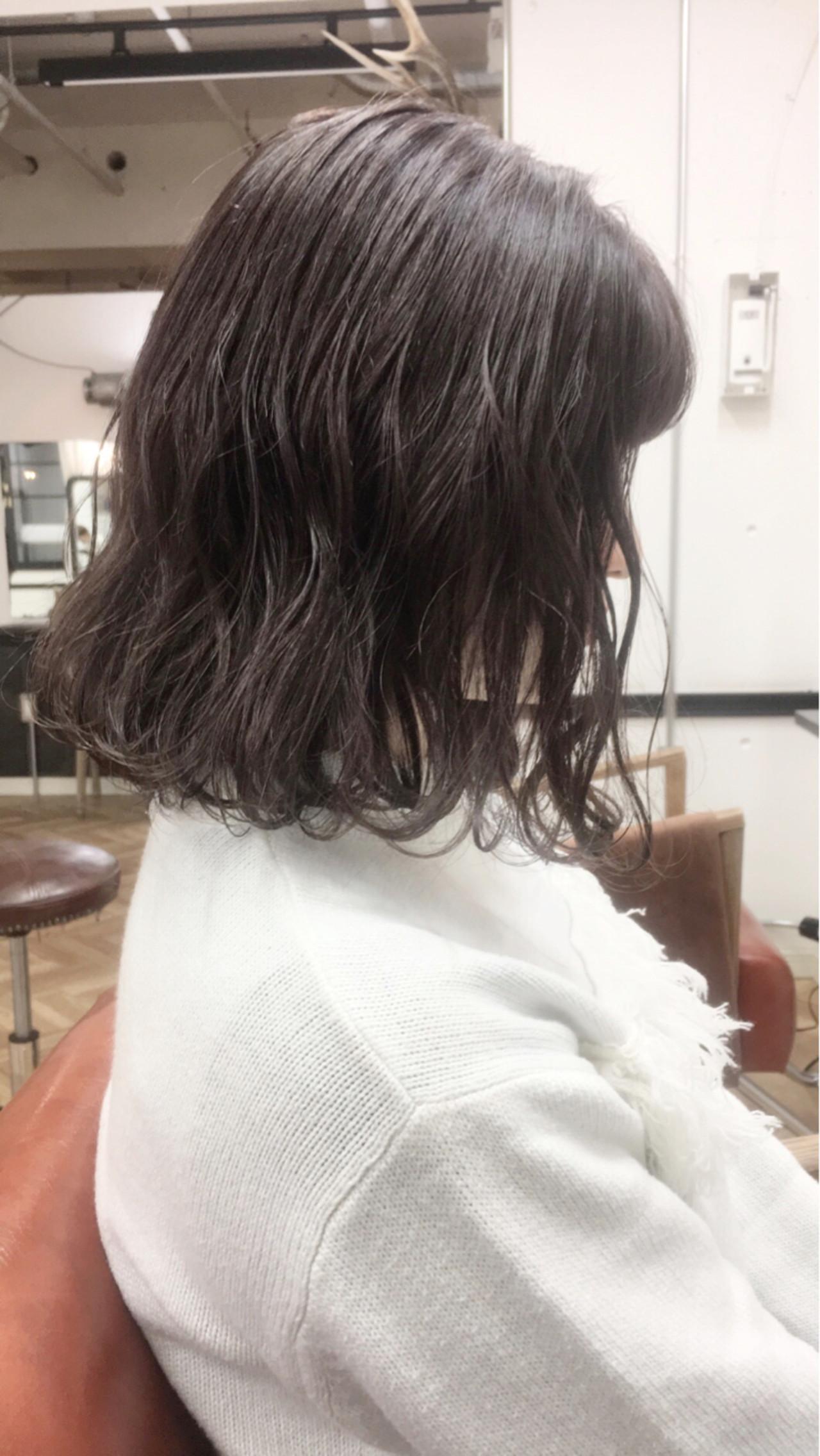 ゆるふわ 冬 ボブ 大人かわいいヘアスタイルや髪型の写真・画像