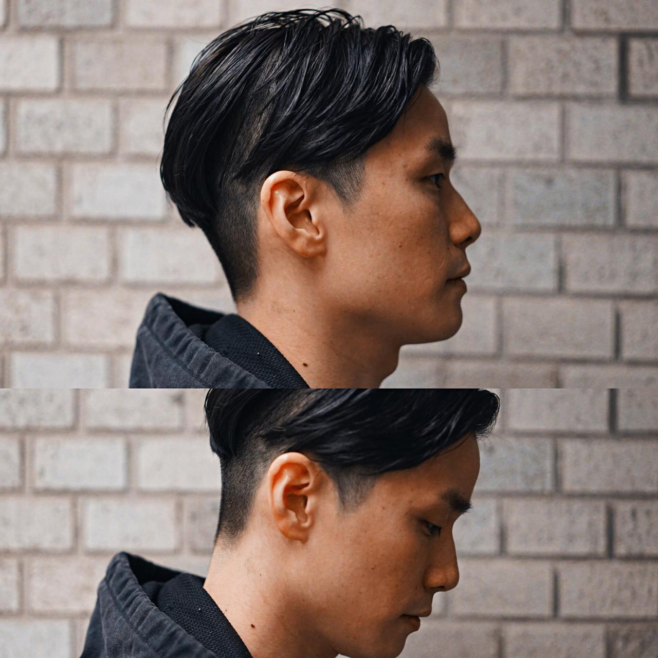 刈り上げ ショート グラデーションカラー ボーイッシュヘアスタイルや髪型の写真・画像