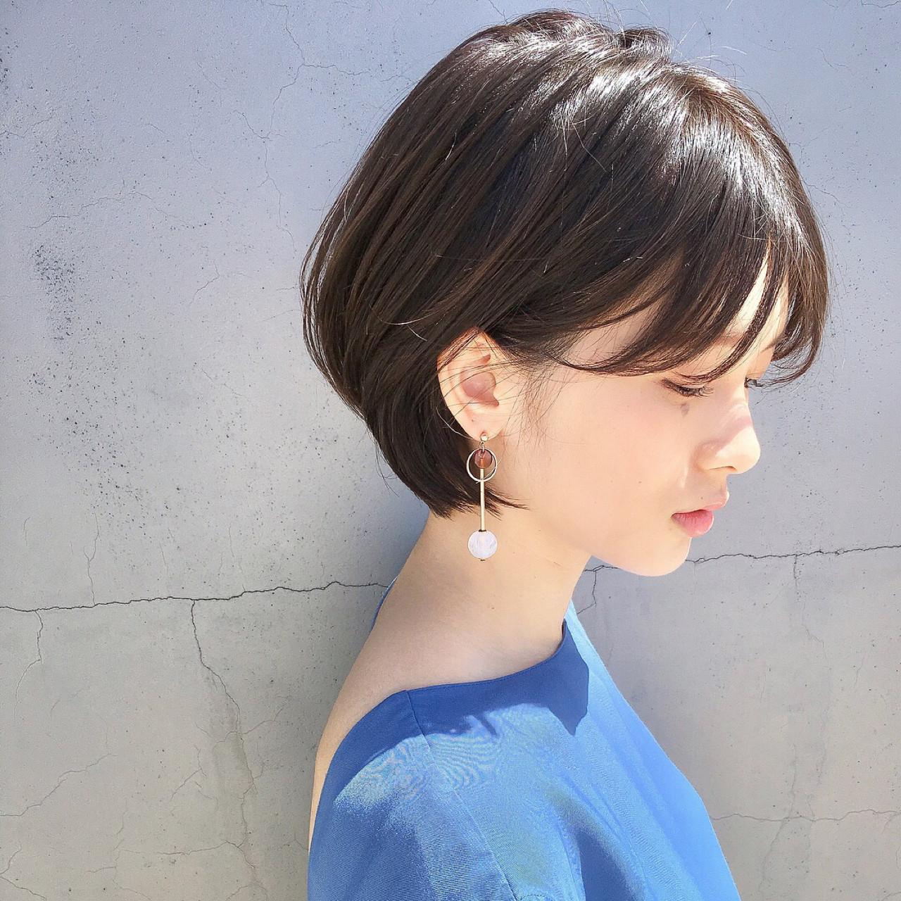 透明感 ガーリー ショート リラックスヘアスタイルや髪型の写真・画像