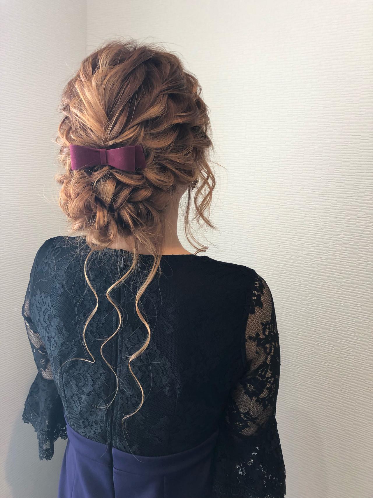 アップ ねじり 結婚式 ヘアアレンジ ヘアスタイルや髪型の写真・画像 | mai / HAIR SALON STELLA