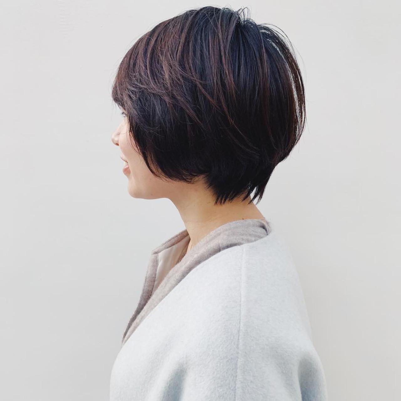 パーマ ハンサムショート ショート アンニュイほつれヘアヘアスタイルや髪型の写真・画像