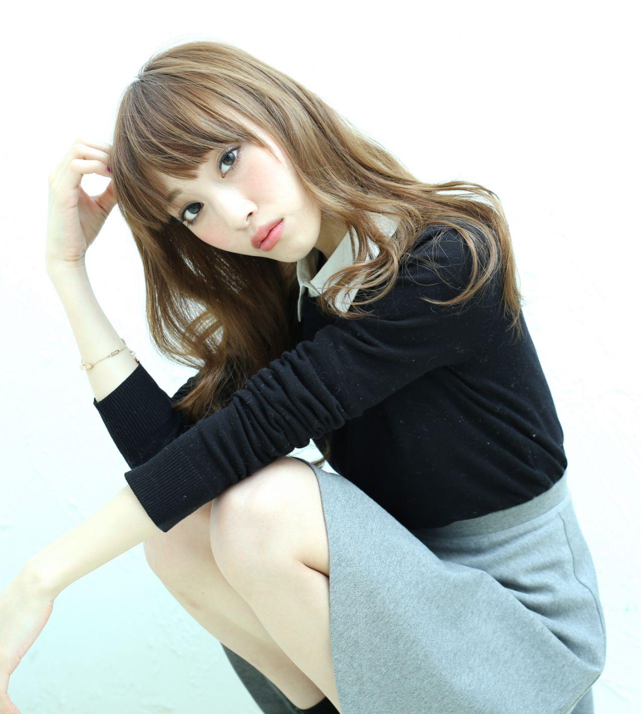 ロング 外国人風カラー モテ髪 コンサバヘアスタイルや髪型の写真・画像