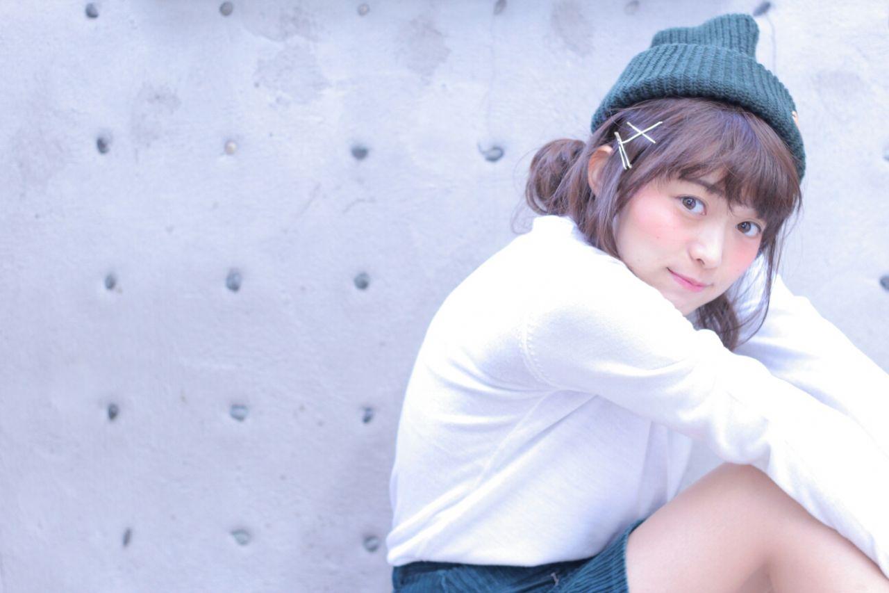 ニット帽×ヘアアレの合わせ技*オシャレ女子に私はなる。 Wataru Maeda / cache cache