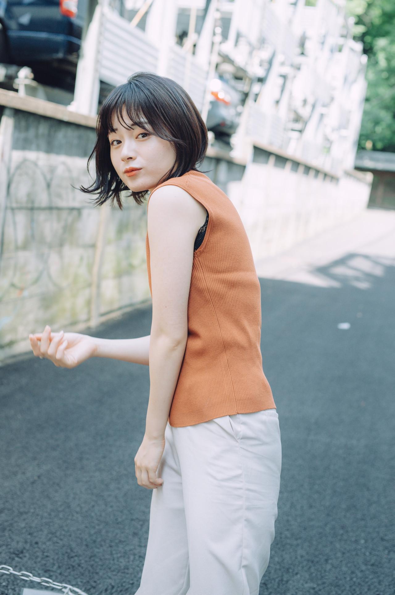 ミニボブ ボブ 外ハネボブ 切りっぱなしボブ ヘアスタイルや髪型の写真・画像 | 児玉善央 / GARDEN harajuku