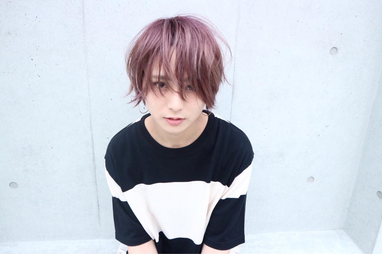 ショート ラベンダーアッシュ ハイトーン ナチュラル ヘアスタイルや髪型の写真・画像   Takashi Tetone / SHIKIO HAIR DESIGN