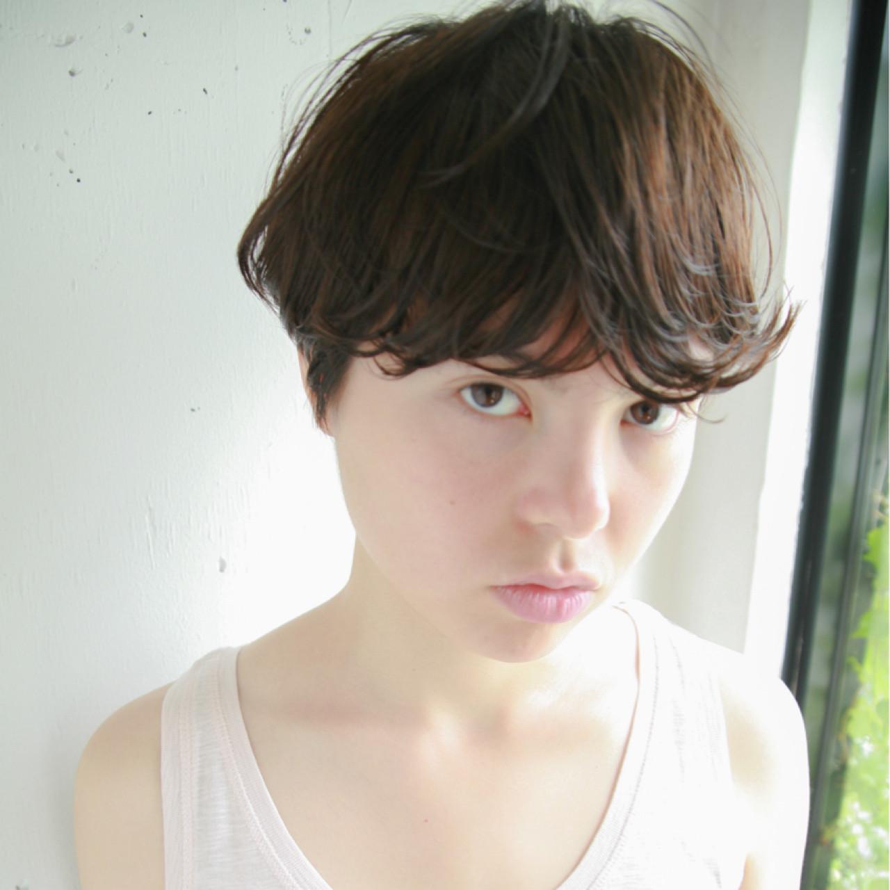 黒髪 パーマ ストリート アッシュ ヘアスタイルや髪型の写真・画像 | 小西敬二郎 / Heartim