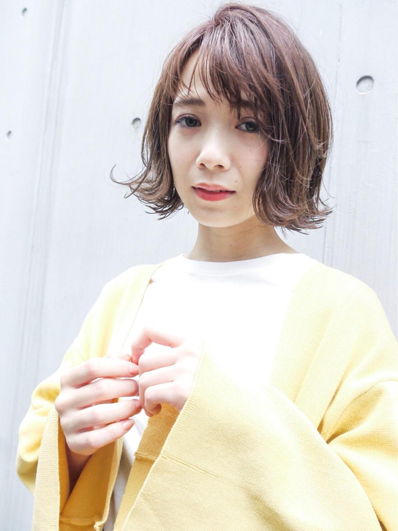 ゆるふわ ボブ ショートボブ 大人かわいい ヘアスタイルや髪型の写真・画像   HIROKI / roijir / roijir
