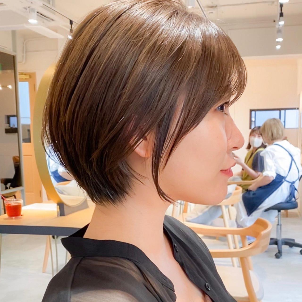 ナチュラル アンニュイほつれヘア 大人かわいい ショートヘアスタイルや髪型の写真・画像