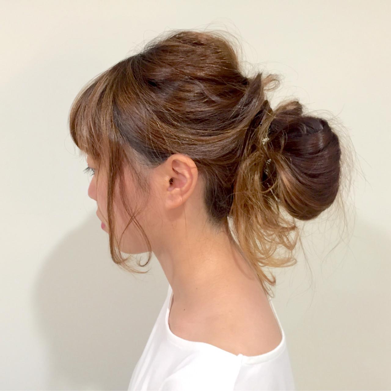 ヘアアレンジ ロング お団子 ショート ヘアスタイルや髪型の写真・画像 | 中川芽衣 / noi