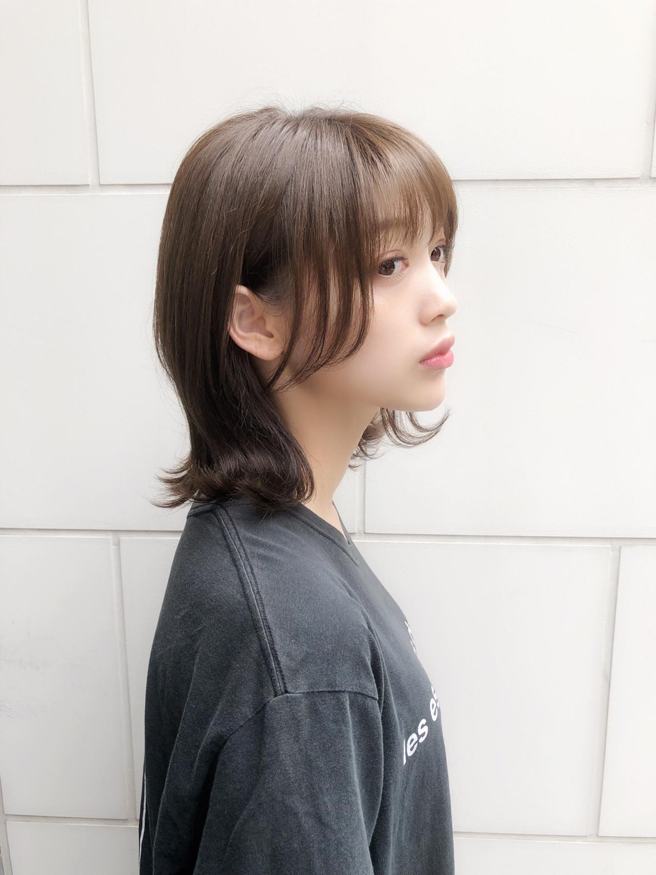 モテボブ レイヤー 大人かわいい フェミニン ヘアスタイルや髪型の写真・画像 | 趙 英来 (よん) / nex