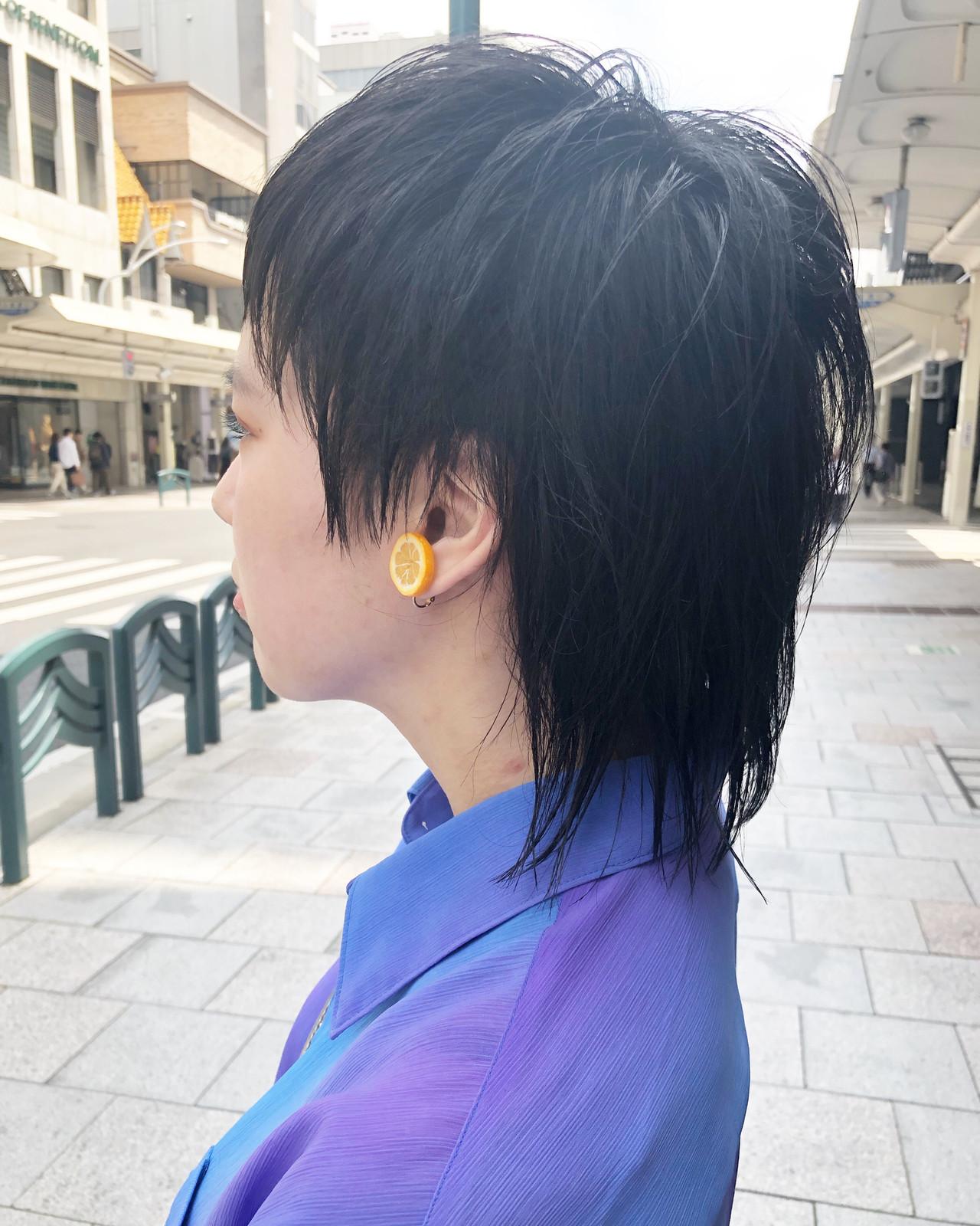 ショート ウルフカット マッシュウルフ ウルフヘアスタイルや髪型の写真・画像