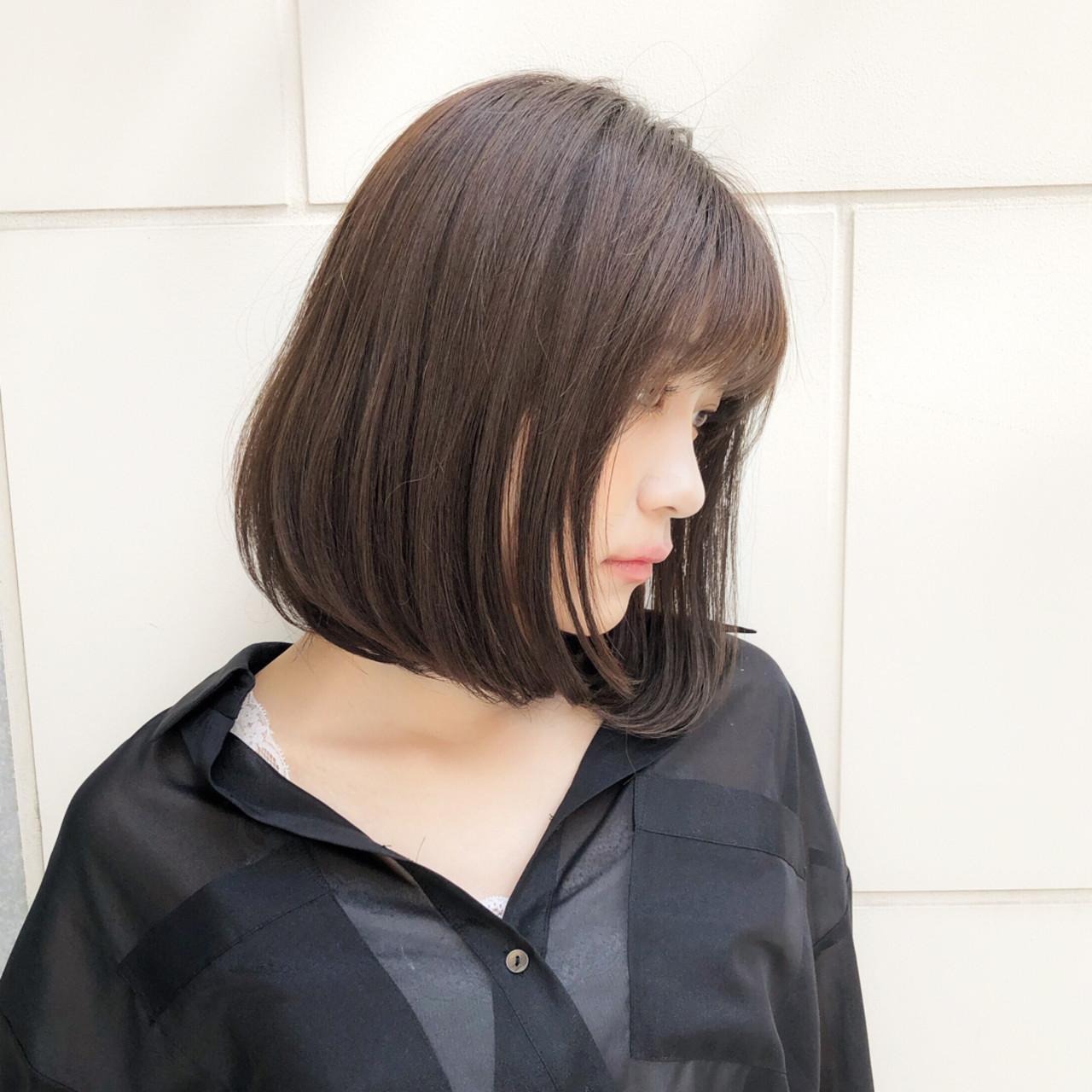 大人かわいい 大人女子 ボブ デート ヘアスタイルや髪型の写真・画像   趙 英来 (よん) / nex
