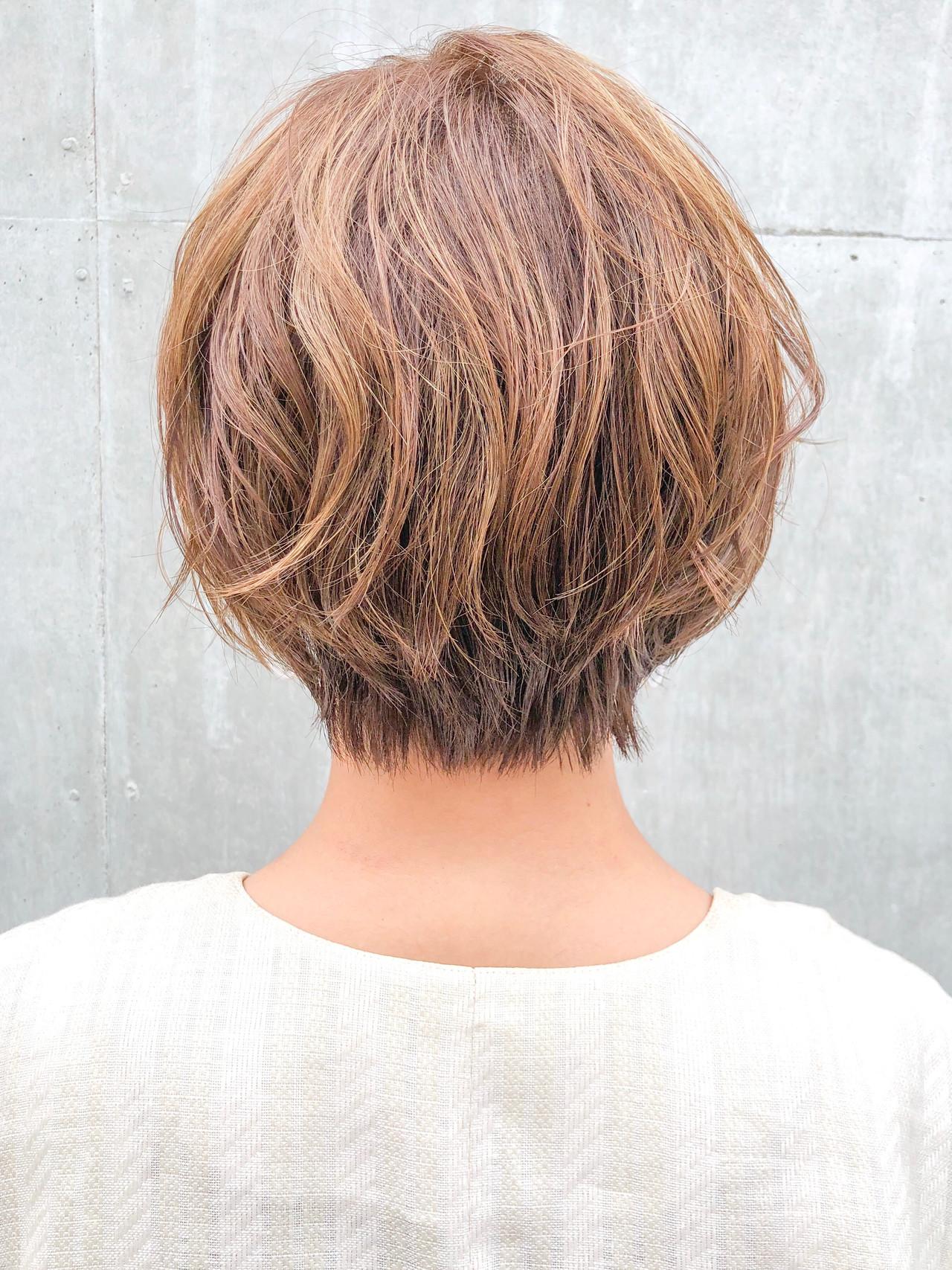 ショート ショートヘア デジタルパーマ ショートボブ ヘアスタイルや髪型の写真・画像 | 本田結(ほんだゆい)dydi表参道 / dydi表参道