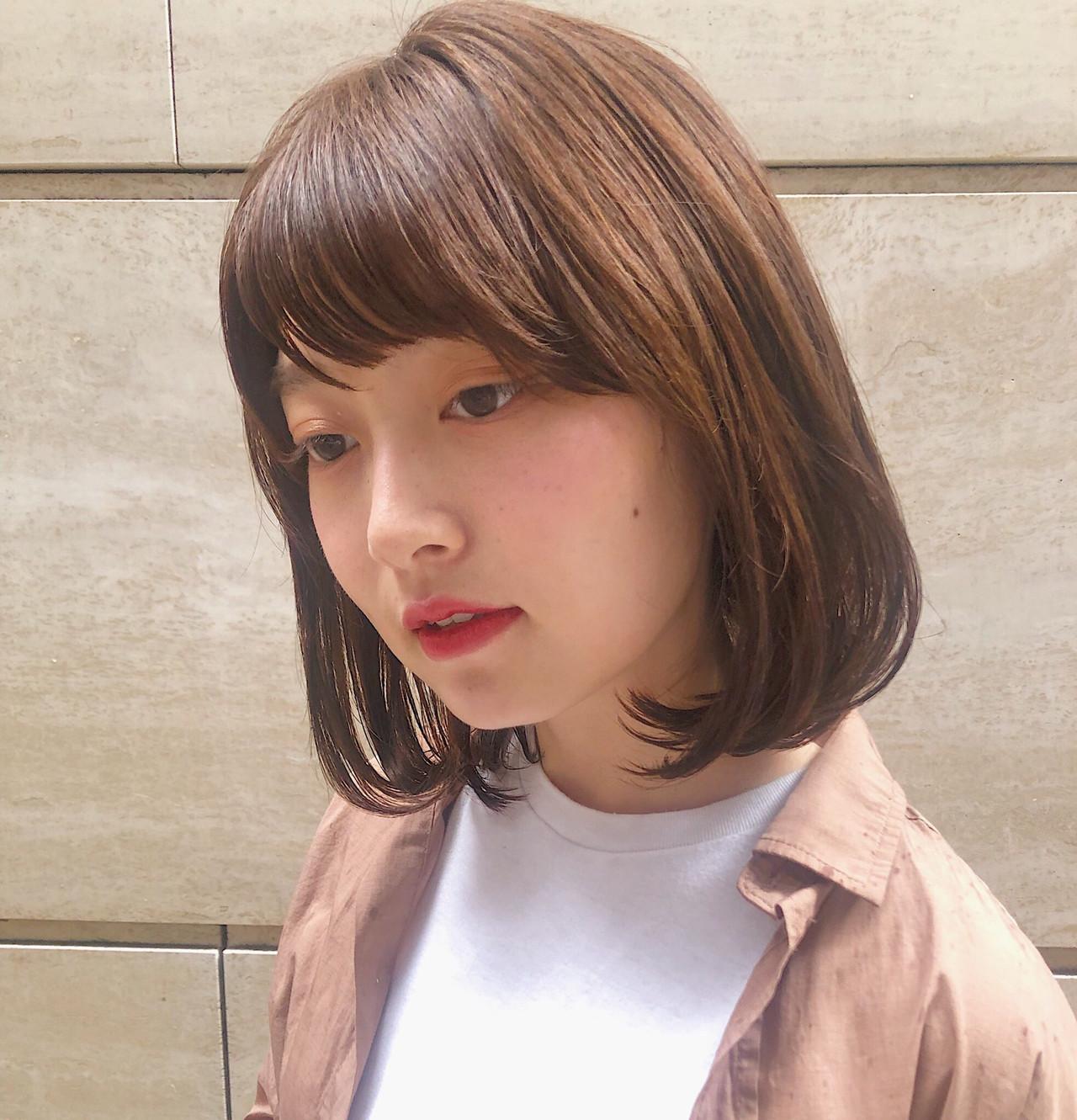 ナチュラル モテボブ ミニボブ 切りっぱなしボブ ヘアスタイルや髪型の写真・画像   MARIA / くびれボブ レイヤー 小顔みせ / EMMA GINZA