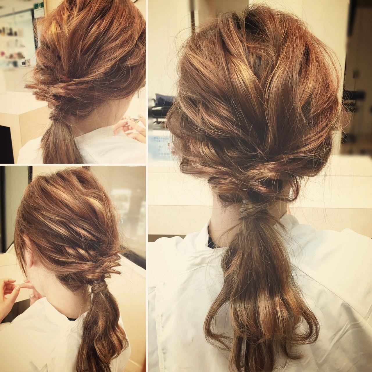 パーティ 結婚式 ゆるふわ ヘアアレンジヘアスタイルや髪型の写真・画像