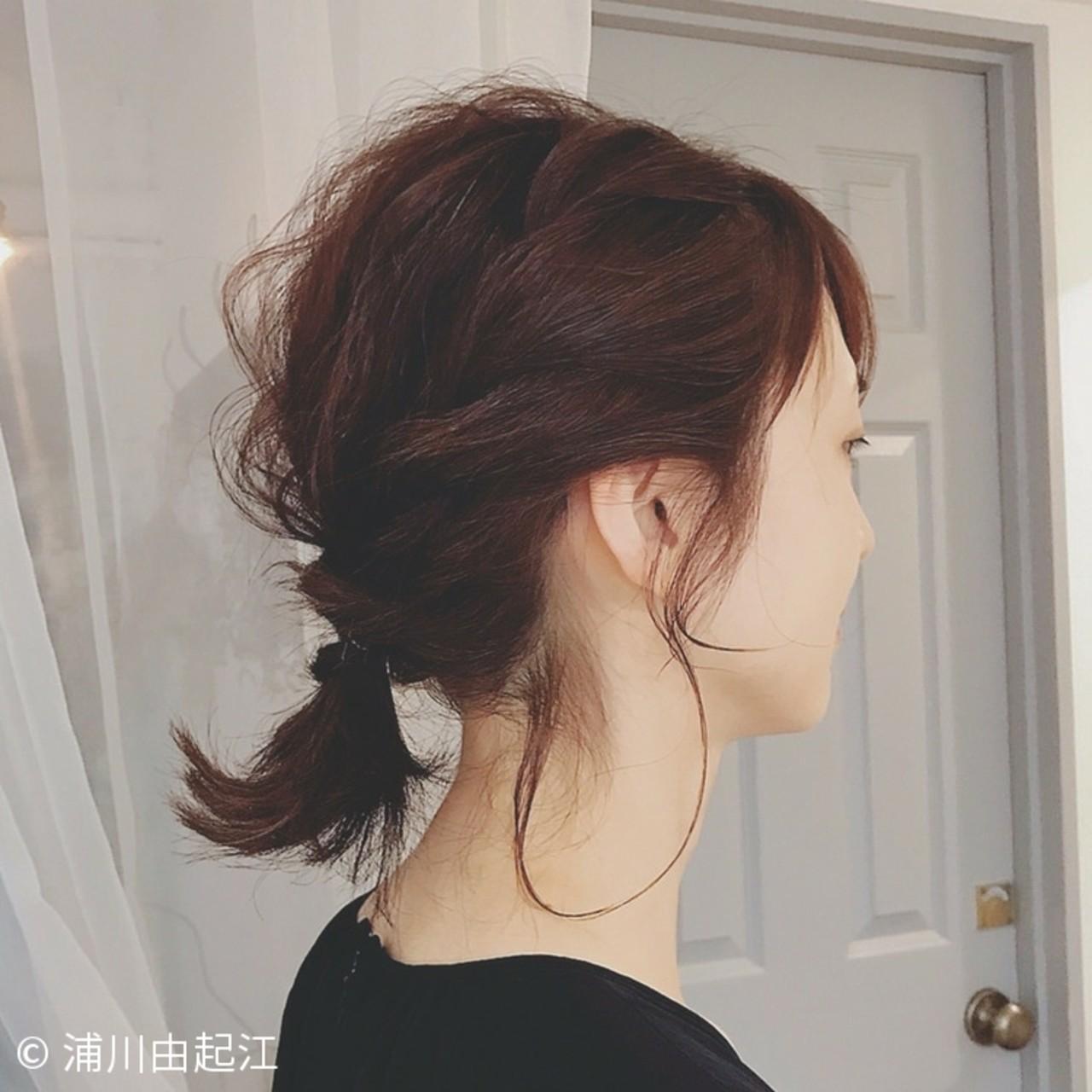 ボブ ゆるふわ 浴衣アレンジ エレガント ヘアスタイルや髪型の写真・画像 | 浦川由起江 / nanon