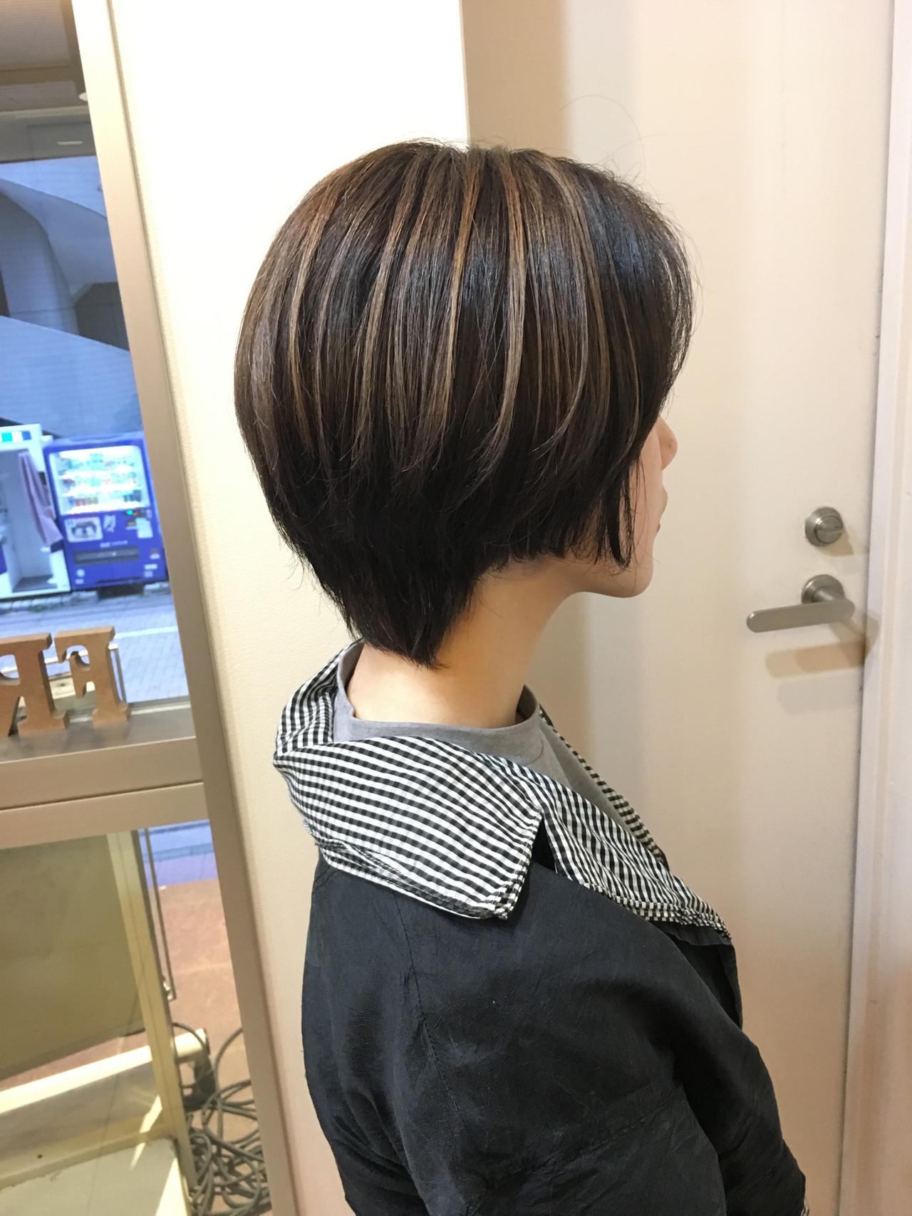 ハイライト コントラストハイライト ナチュラル ショート ヘアスタイルや髪型の写真・画像 | 《町田の美容師》キタダヒロキ / Hair Frais Make