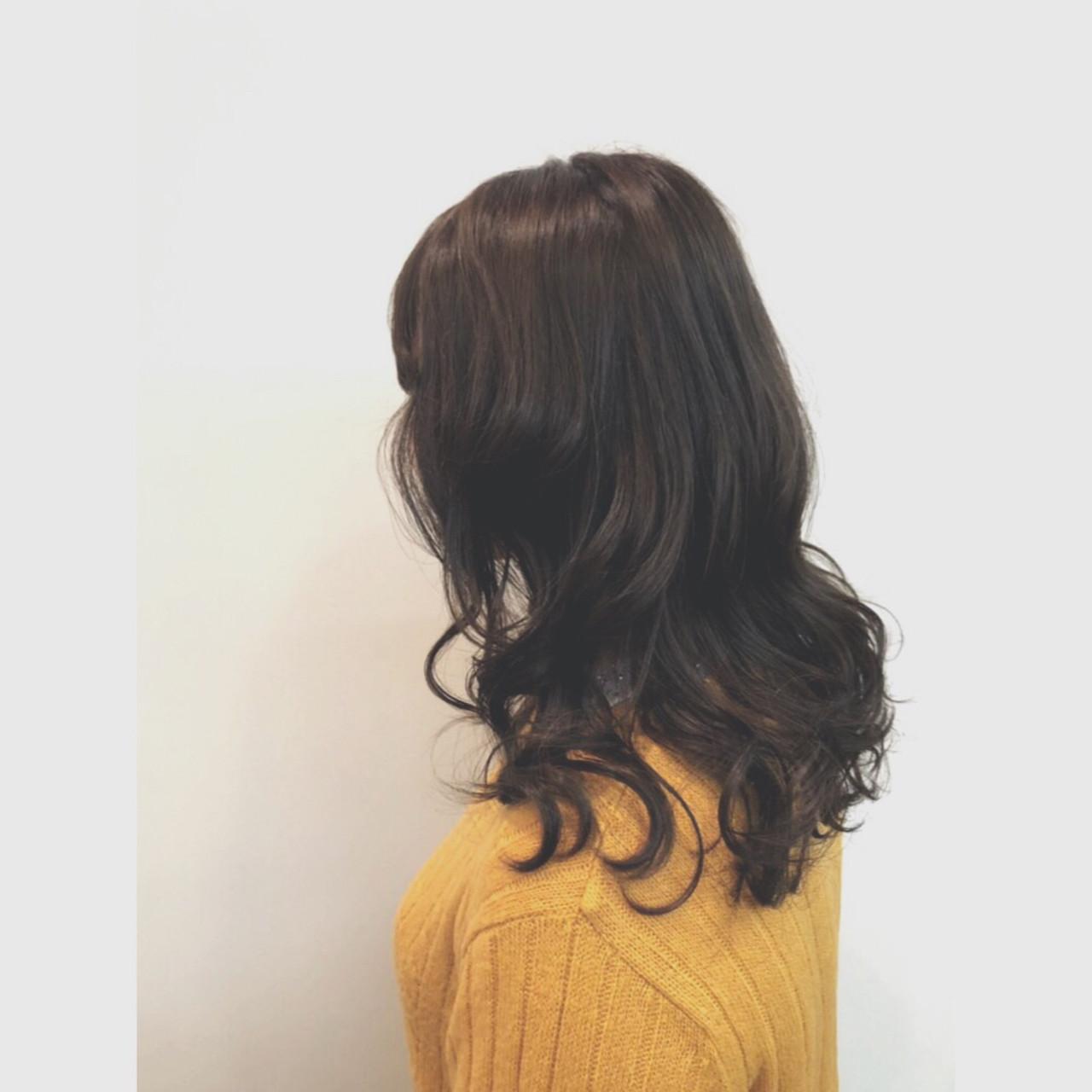 アッシュ ゆるふわ 暗髪 アンニュイほつれヘア ヘアスタイルや髪型の写真・画像 | 田上 ほまれ / D-boy Alice 下通