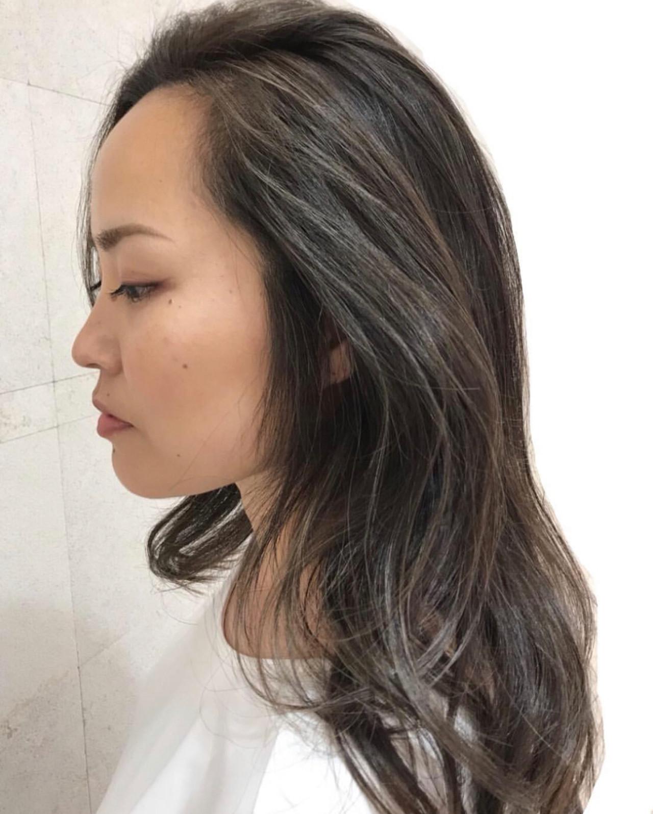 セミロング ナチュラル コントラストハイライト ハイライト ヘアスタイルや髪型の写真・画像 | 坂口 南 / kakimoto arms二子玉川