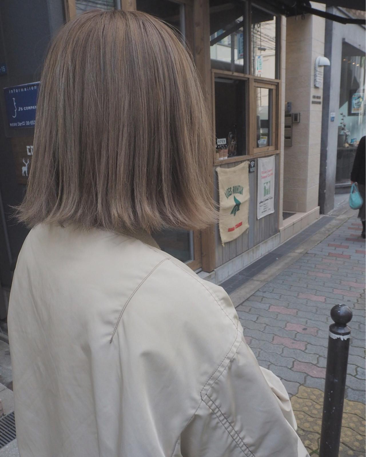 ボブ ミルクティー ストリート 外国人風ヘアスタイルや髪型の写真・画像
