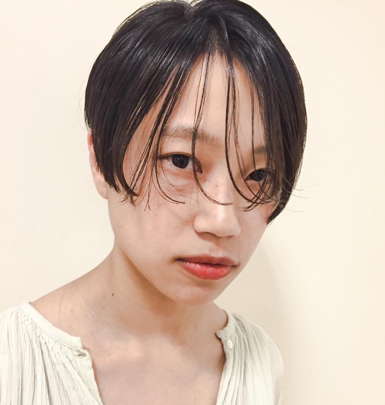 黒髪 フェミニン パーマ ストリート ヘアスタイルや髪型の写真・画像 | 熊谷 公亮 / Fits core