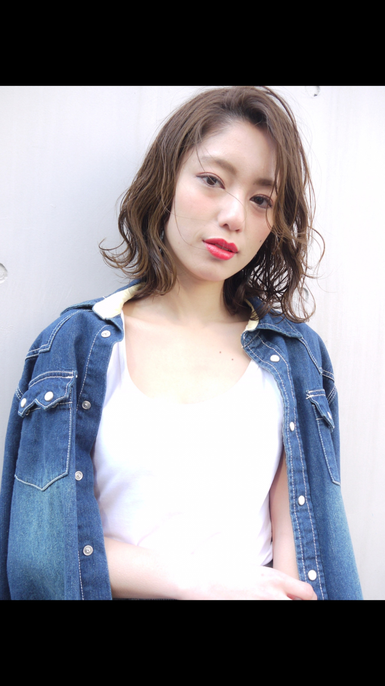コンサバ ミディアム 大人かわいい アウトドア ヘアスタイルや髪型の写真・画像 | HIROKI / roijir / roijir