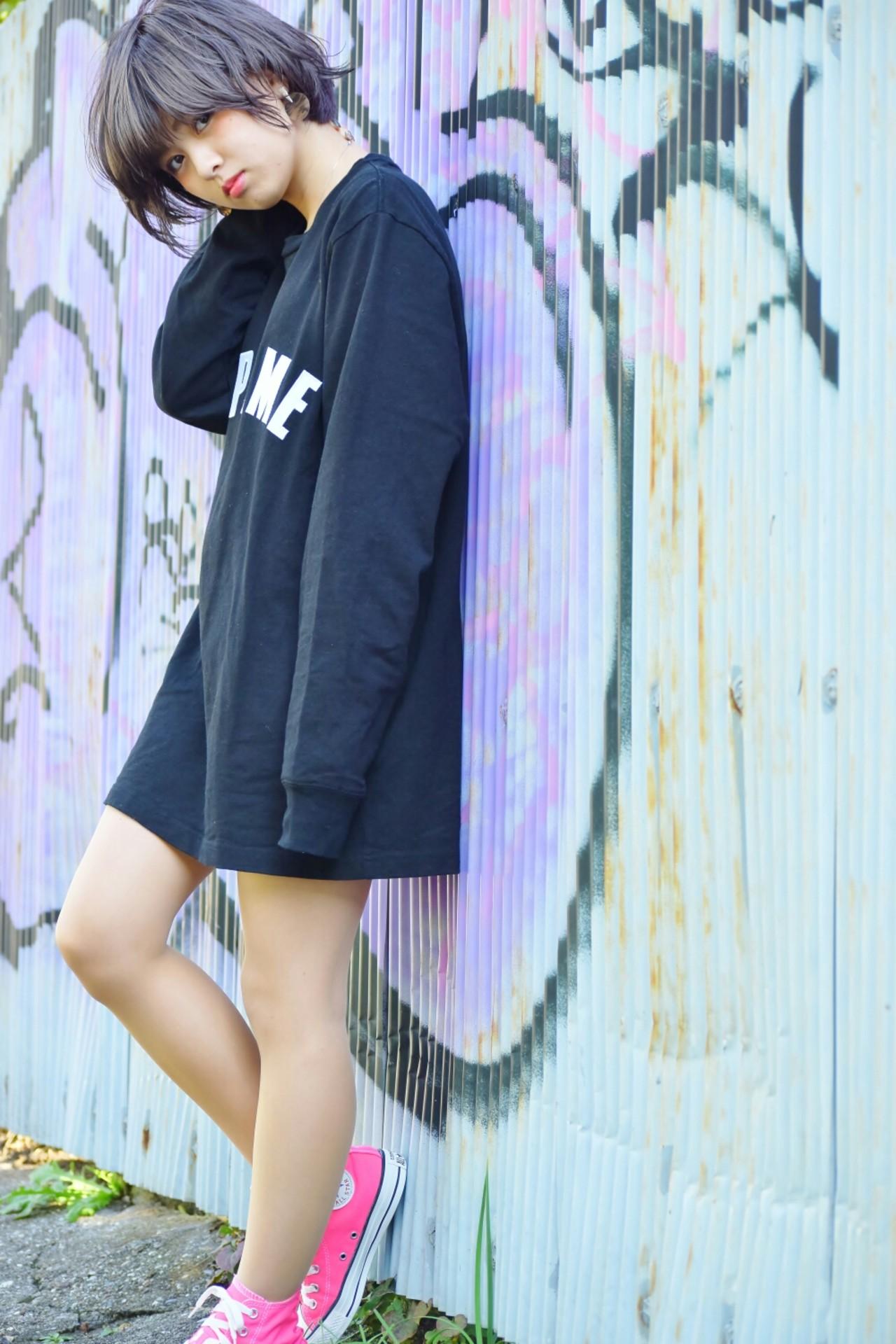ショート ストレート 外ハネ 外国人風 ヘアスタイルや髪型の写真・画像 | 鈴木 隼一 / AMILI