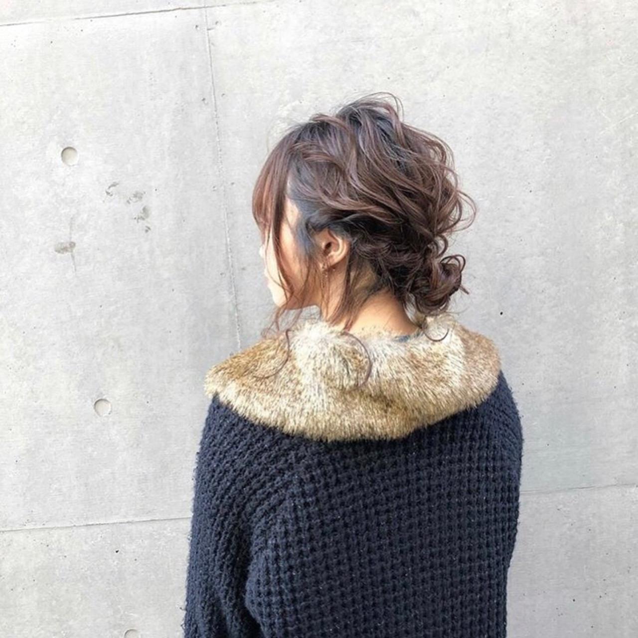 フェミニン ミディアム オフィス 成人式 ヘアスタイルや髪型の写真・画像 | 菖蒲池 隼 (ぶしょー) / FILMS