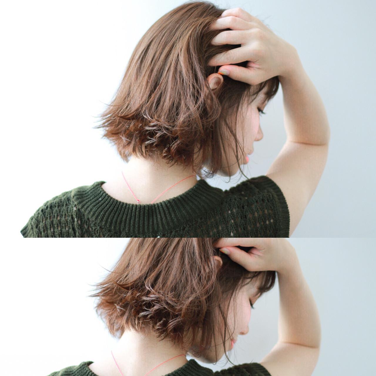 アースカラーを髪色にも。ヘアスタイルもナチュラル可愛く♡ 宮森貴志