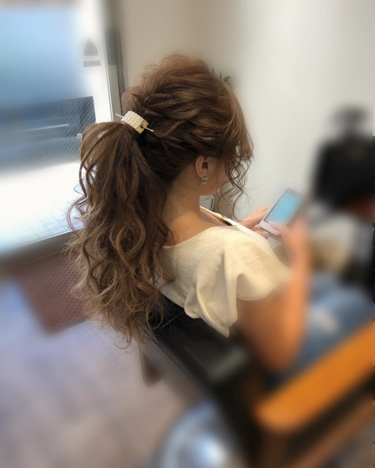 アップスタイル ポニーテール ロング ヘアアレンジ ヘアスタイルや髪型の写真・画像 | mai / HAIR SALON STELLA