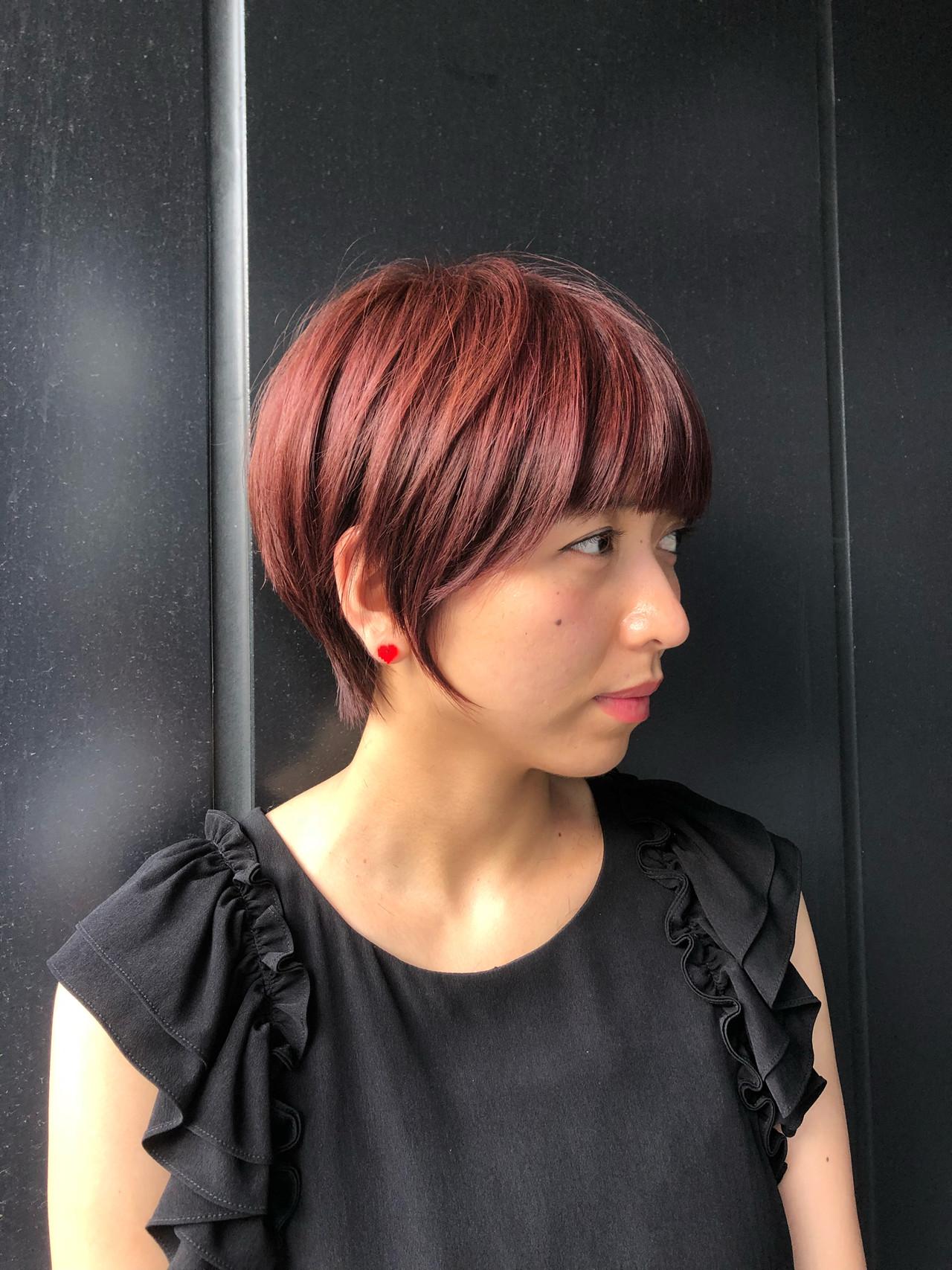 フェミニン ショートボブ ハンサムショート マッシュショート ヘアスタイルや髪型の写真・画像 | 池上 一星 / GINZA PEEK-A-BOO 中央通り店