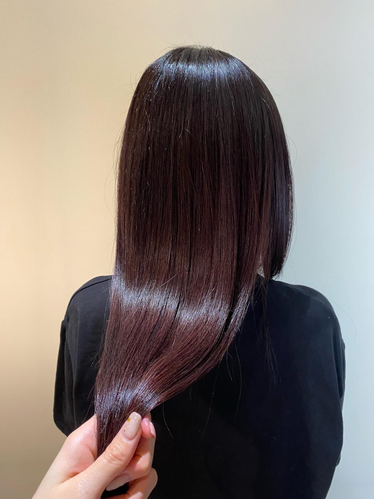 髪質改善トリートメント トリートメント カラートリートメント ナチュラル ヘアスタイルや髪型の写真・画像