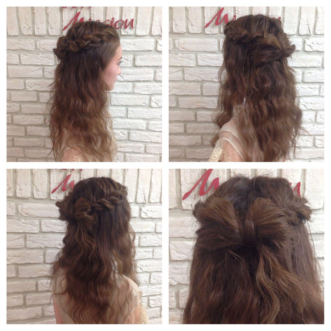 編み込み ロング モテ髪 コンサバ ヘアスタイルや髪型の写真・画像 | 堂園知里 / hair Mission