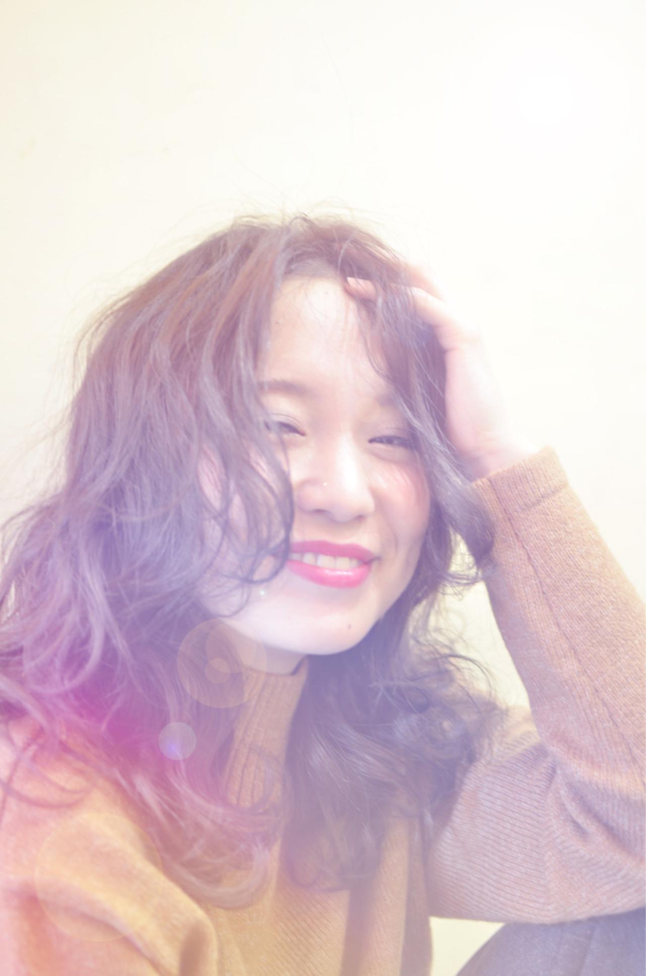 無造作 セミロング ストリート うざバング ヘアスタイルや髪型の写真・画像   サトウ タクロウ / lalma mit