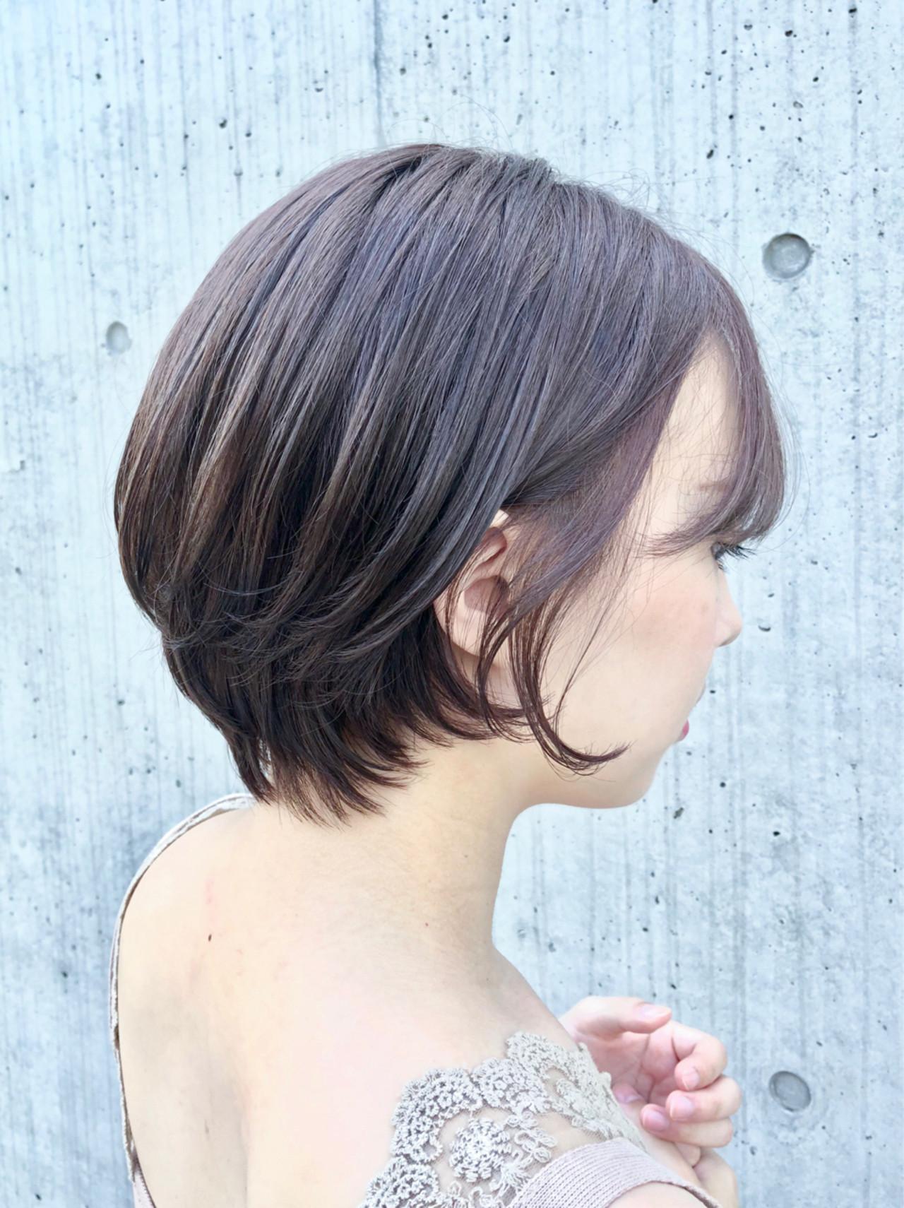 ヘアアレンジ デート アウトドア ショートヘアスタイルや髪型の写真・画像