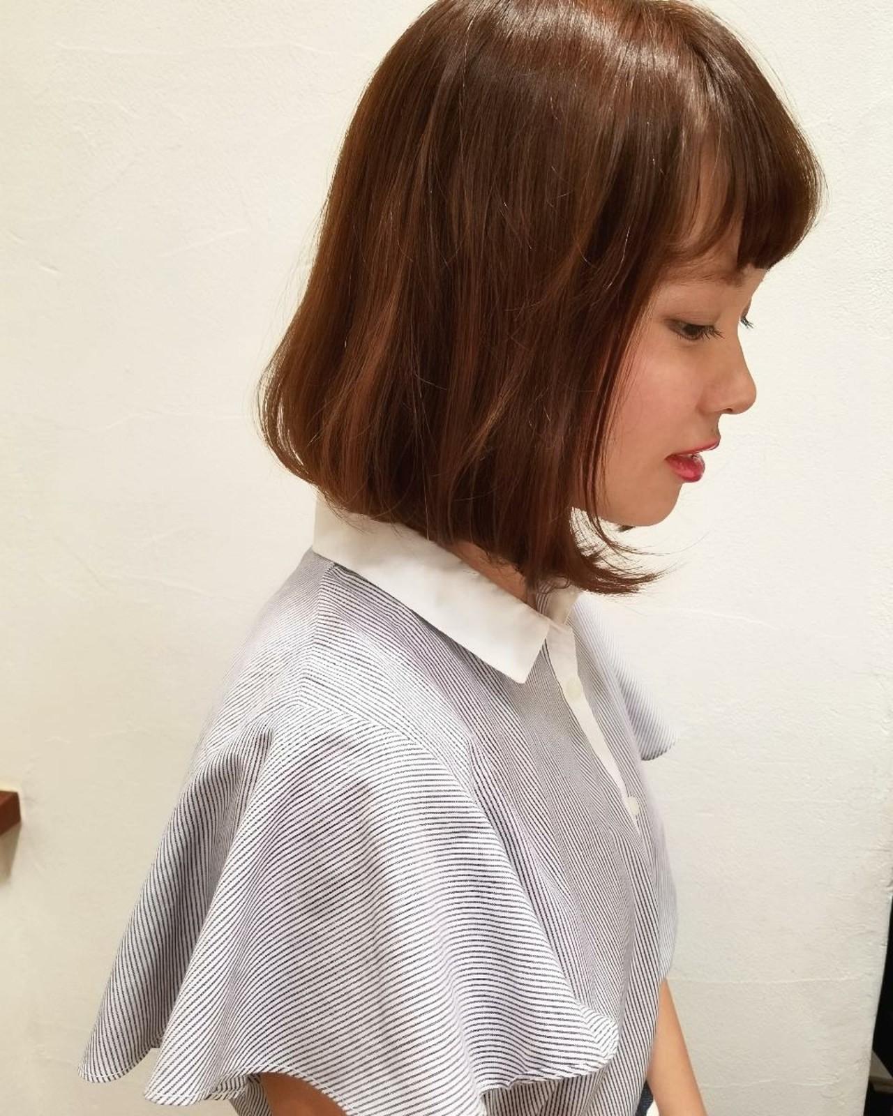 透明感 かわいい リラックス オフィス ヘアスタイルや髪型の写真・画像 | 川田 義人 GREEK hairdesign / GREEK  hairdesign【グリーク】