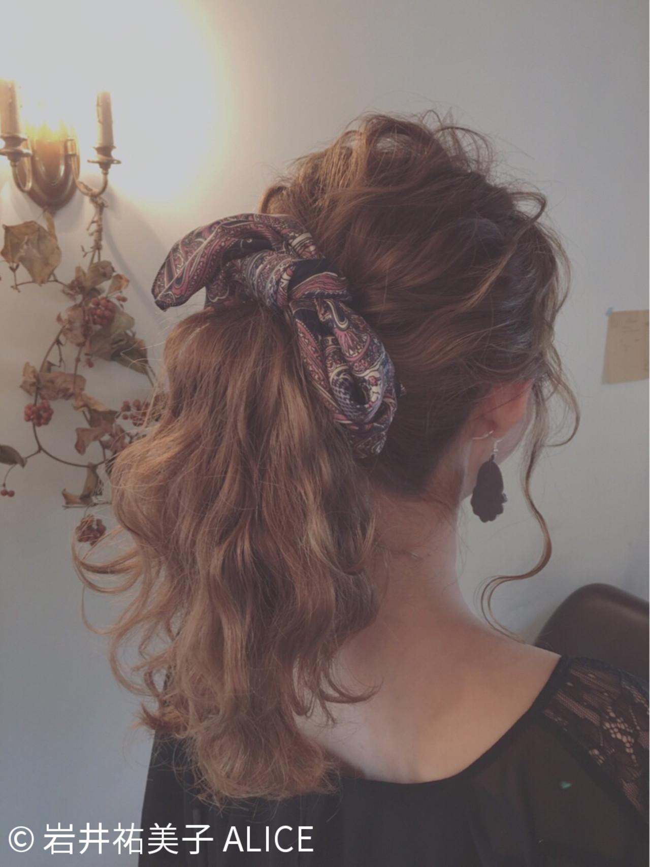 ポニーテール×スカーフで作る簡単可愛いヘアスタイル♡ 岩井祐美子 ALICE