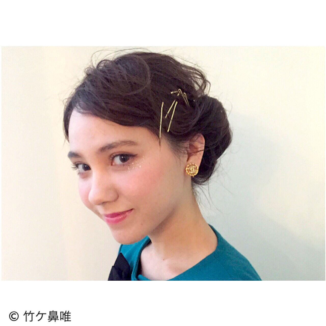 ヘアアレンジ アッシュ 外国人風 レトロ ヘアスタイルや髪型の写真・画像   竹ケ鼻唯 / SUN